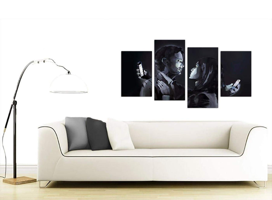 Large 4 Panel Graffiti Canvas Art 4212
