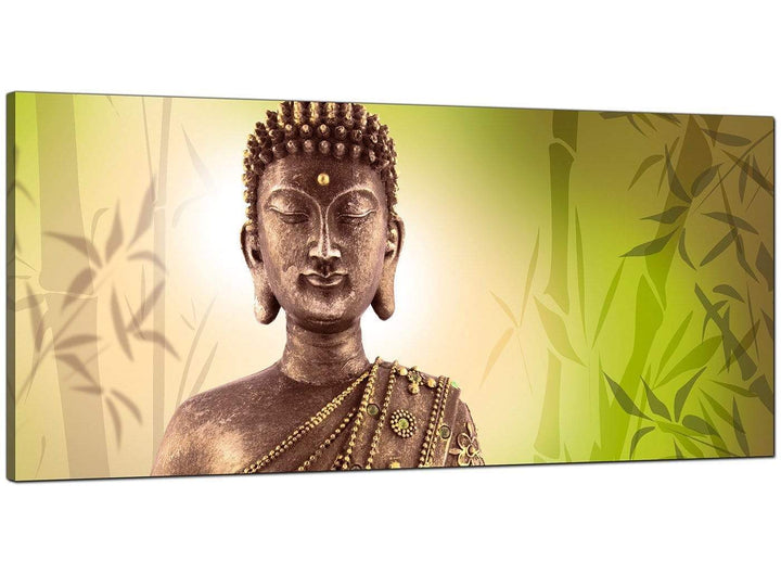 Green Bedroom Extra Large Canvas of Buddha