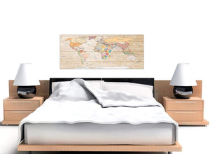 Cheap Large Cream Map Of The World Atlas Picture Canvas Modern 120cm Wide 1314 For Your Living Room