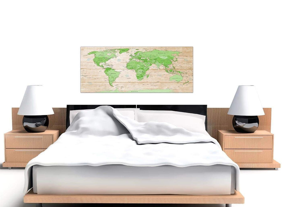 Cheap Large Lime Green Cream World Map Atlas Canvas Modern 120cm Wide 1310 For Your Office