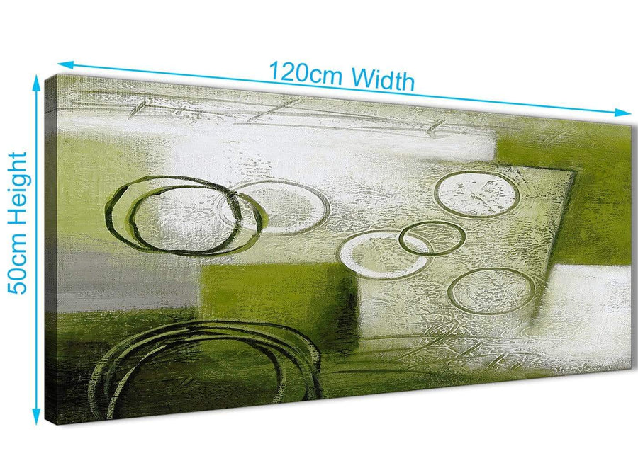 Cheap Lime Green Painting Living Room Canvas Pictures Accessories - Abstract 1434 - 120cm Print