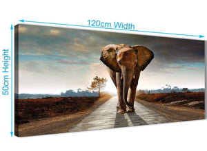 Cheap Modern Elephant Landscape - Canvas Wall Art - 1209 - 120cm Wide Print