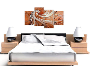 cheap orange abstract swirl canvas pictures 4264