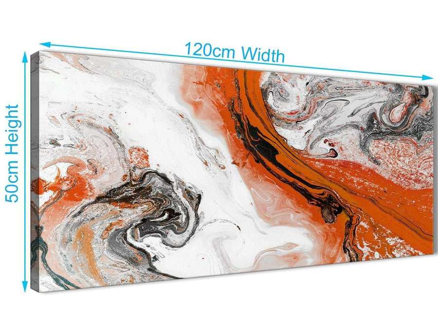 Cheap Orange and Grey Swirl Bedroom Canvas Wall Art Accessories - Abstract 1461 - 120cm Print