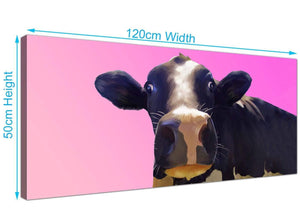 Large Cow Canvas Wall Art 120cm x 50cm 1151