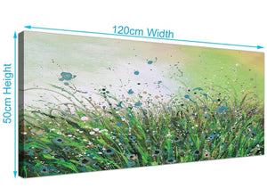 cheap panoramic floral green canvas prints uk green 1261