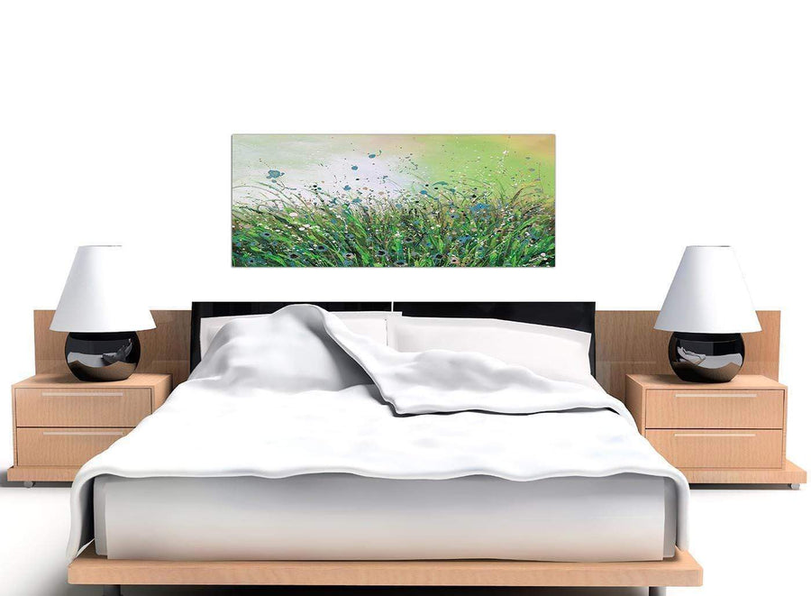 cheap panoramic green floral canvas art 1261