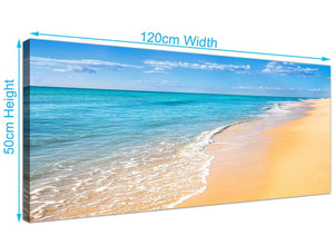 cheap panoramic tropical beach canvas pictures blue 1199