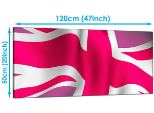 Bedroom Pink Extra Large Canvas of Union Flag