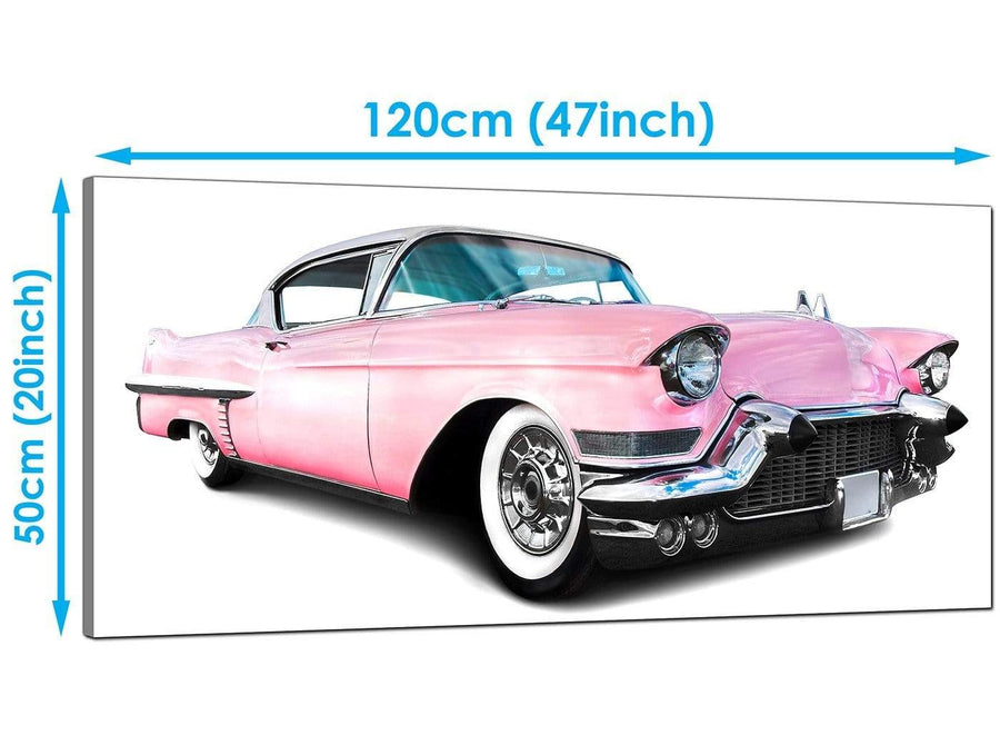Bedroom Pink Extra Large Canvas of Cars