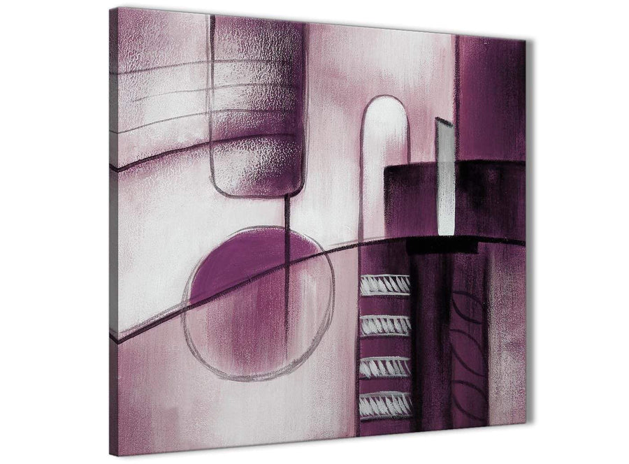 Cheap Plum Grey Painting Kitchen Canvas Pictures Accessories - Abstract 1s420s - 49cm Square Print