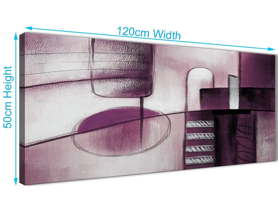 Cheap Plum Grey Painting Living Room Canvas Wall Art Accessories - Abstract 1420 - 120cm Print