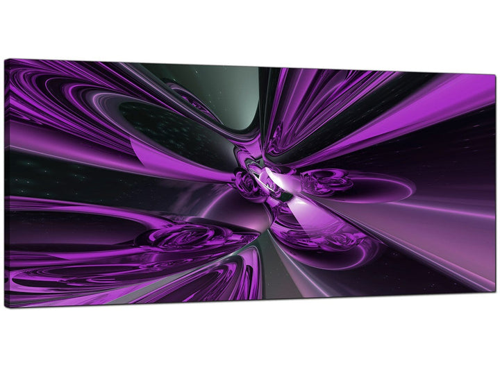 Purple Bedroom Wide Abstract Canvas