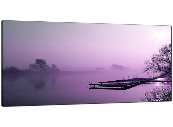 Purple Living Room Panoramic Canvas of Landscape