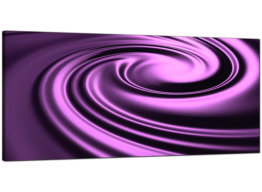 Purple Modern Wide Abstract Canvas
