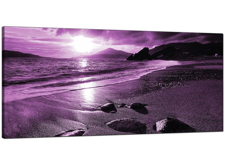 Purple Modern Large Canvas of Landscape