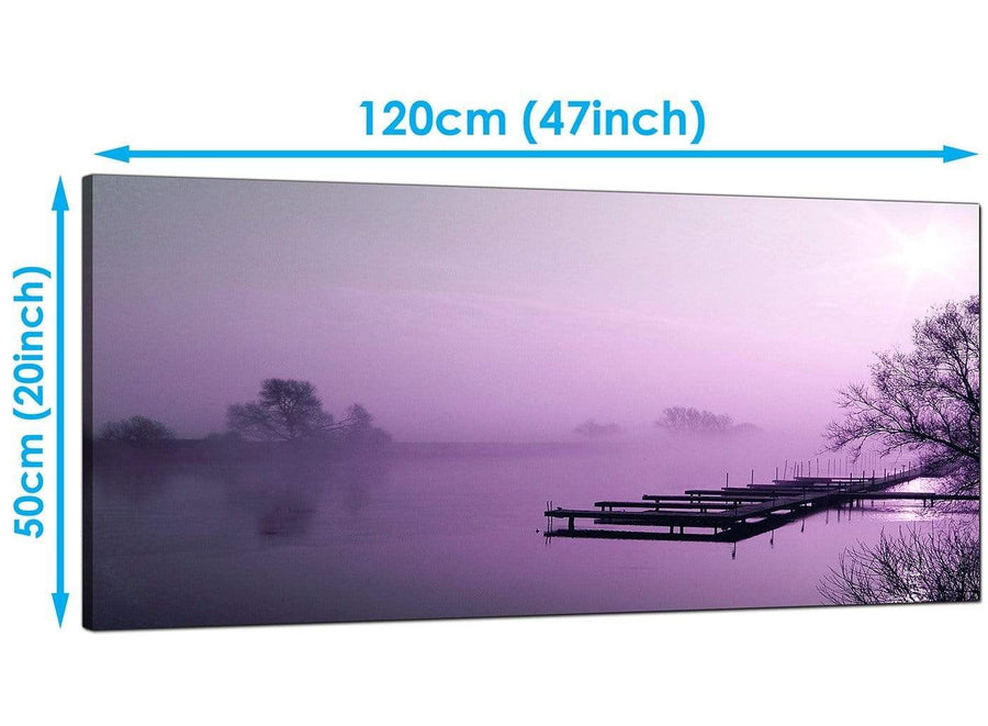 Living-Room Purple Panoramic Canvas of Landscape