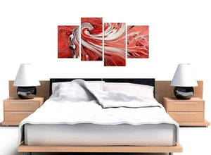cheap red abstract swirl canvas art 4265