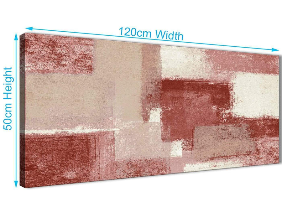 Cheap Red and Cream Living Room Canvas Wall Art Accessories - Abstract 1370 - 120cm Print