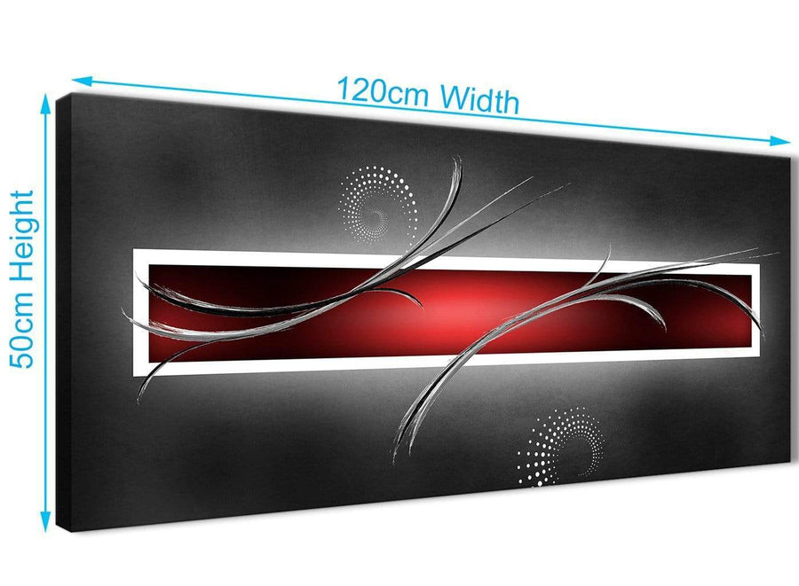 Red Black And Grey White Modern Abstract Canvas Bedroom Canvas Wall Ar Wallfillers Co Uk
