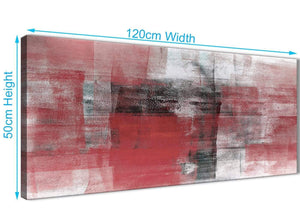 Cheap Red Black White Painting Living Room Canvas Wall Art Accessories - Abstract 1397 - 120cm Print