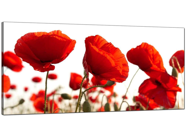 Red Living Room Extra Large Canvas of Poppies