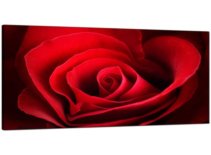 Red Cheap Extra Large Canvas of Rose