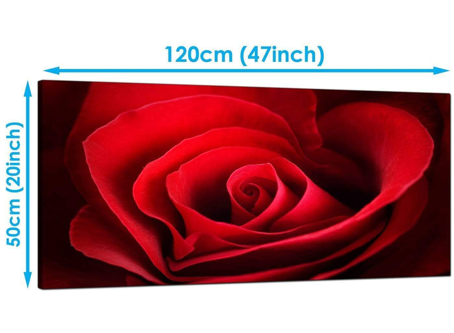Cheap Red Extra Large Canvas of Rose