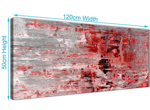 Cheap Red Grey Painting Living Room Canvas Wall Art Accessories - Abstract 1414 - 120cm Print