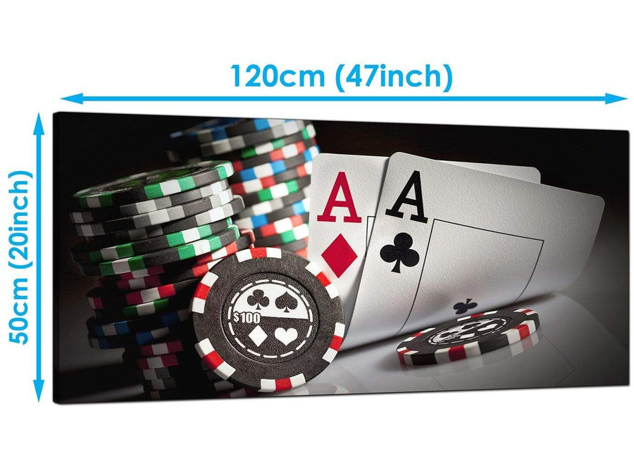 Cheap Red Extra Large Poker Canvas