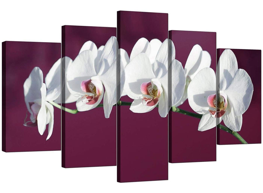 5 Panel Set of Modern Plum Canvas Picture