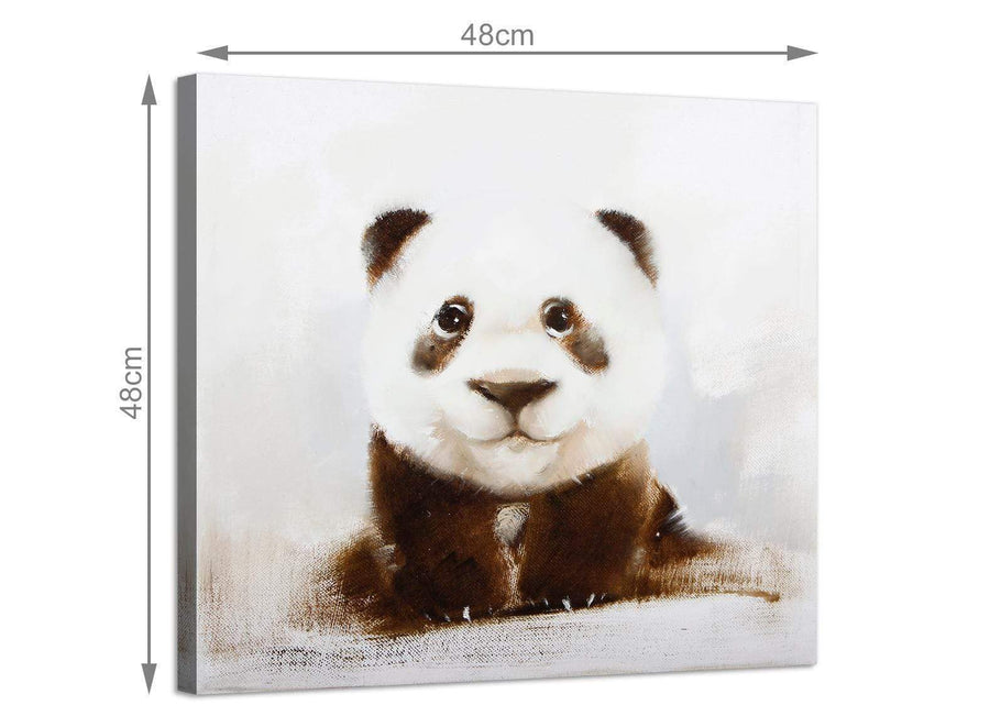 Cheap square animal canvas wall art girls bedroom 1s250m