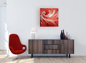 cheap square red abstract swirl canvas wall art 1s265m