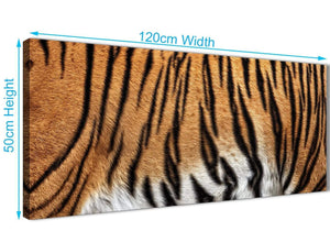 Cheap Tiger Animal Print Canvas Art Pictures - 1472 - 120cm Wide Print