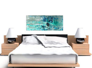 Cheap Turquoise Teal Abstract Painting Wall Art Print Canvas Modern 120cm Wide 1333 For Your Living Room