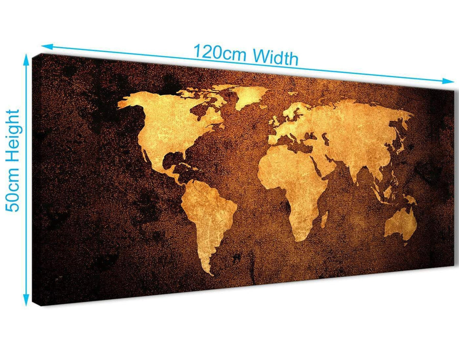 Cheap Vintage Old World Map - Brown Cream Canvas - Living Room Canvas Wall Art Accessories - Abstract 1188 - 120cm Print