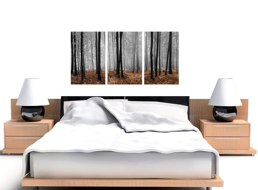 cheap wide black and white forest woodland trees canvas art 3238