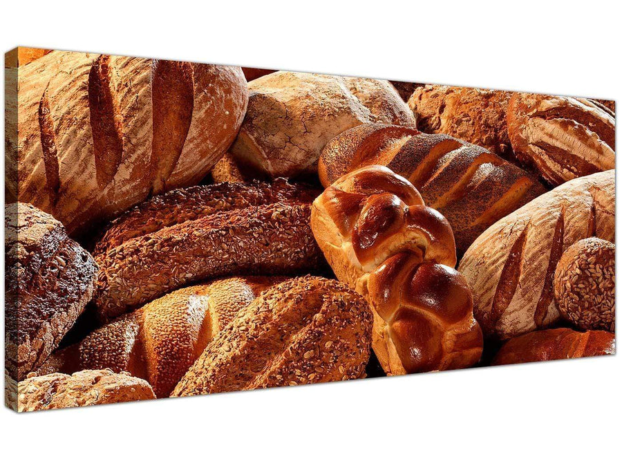 Large Brown Canvas Art of Bread