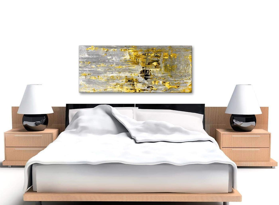 Cheap Yellow Abstract Painting Wall Art Print Canvas Modern 120cm Wide 1357 For Your Living Room
