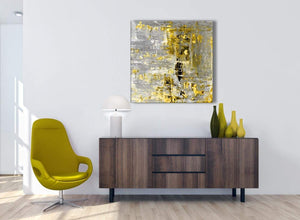 Cheap Yellow Abstract Painting Wall Art Print Canvas Modern 79cm Square 1S357L For Your Kitchen