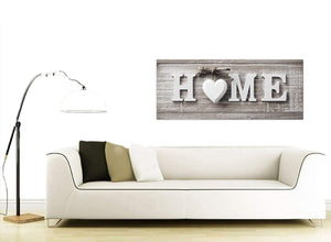 Contemporary Shabby Chic Home Quote Beige Canvas Modern 120cm Wide 1317 For Your Living Room
