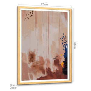 Abstract Blush Pink Design Framed Wall Art Picture