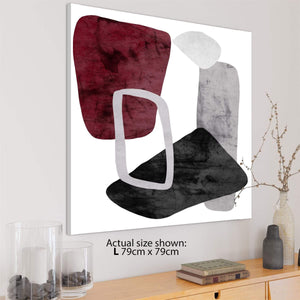 Abstract Red Black and White Painting Framed Wall Art Picture