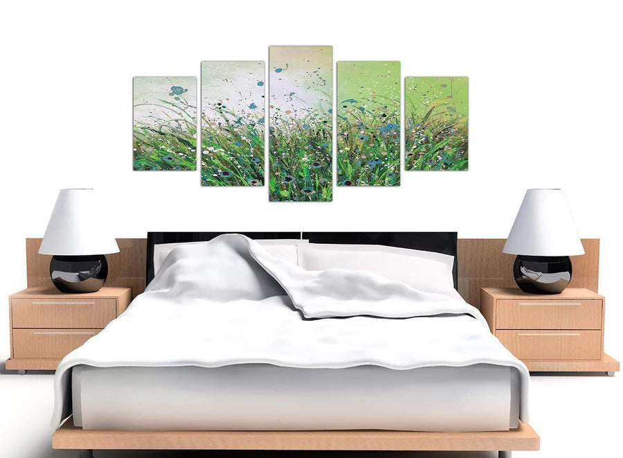 extra large abstract green floral canvas prints 5261