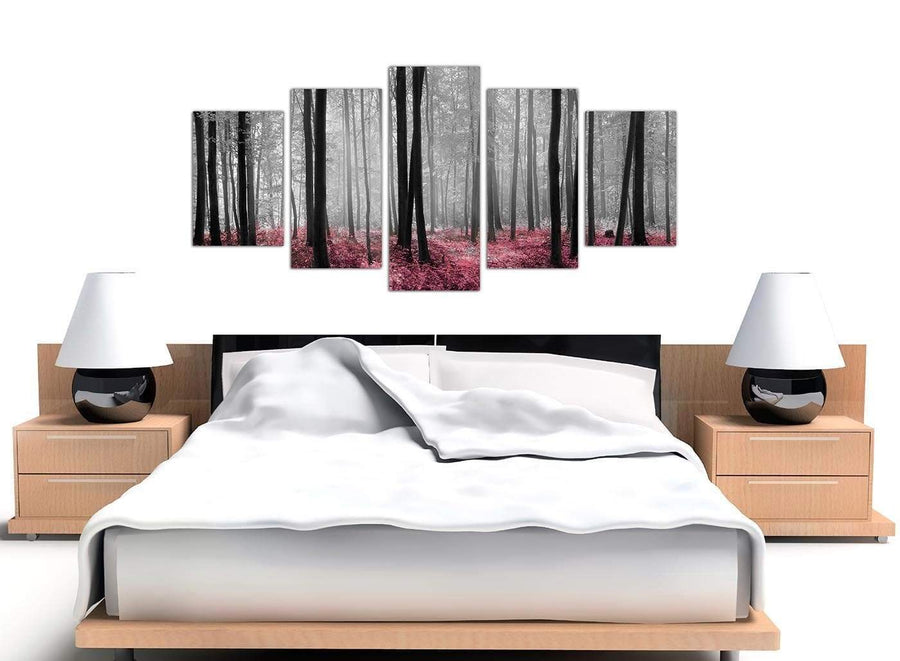 extra large black and white forest woodland trees canvas prints 5241