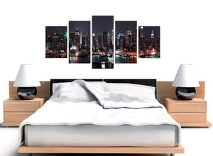 Extra Large 5 Piece Cityscape Canvas Art