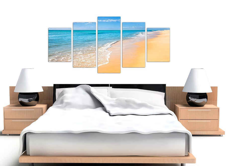 extra large blue tropical beach canvas prints uk 5199