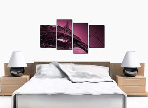 4 Part Set of Cheap Plum Canvas Picture