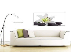Lily Modern Black and White Canvas Art