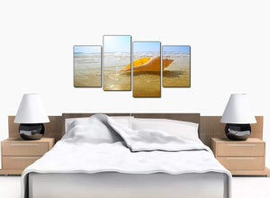 4 Piece Set of Bedroom Blue Canvas Pictures